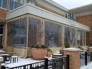 Restaurant Patio Plastic Sliding Enclosures