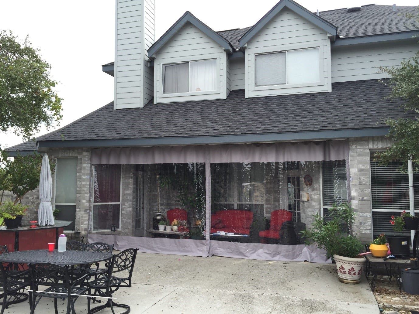 Bozeman Mt Restaurant Home Outdoor Clear Plastic Patio Enclosures