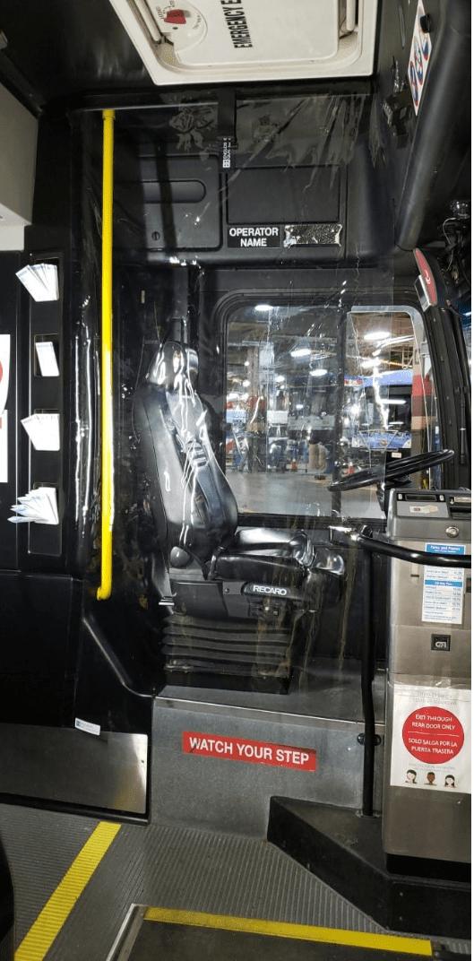 Bus Sneeze Guards Clear Plastic