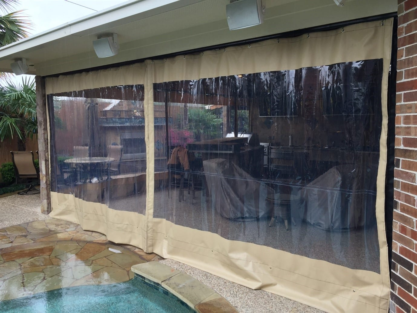 Clear Outdoor Patio Curtains For Homes In Davis