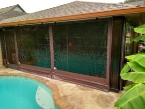 Drop With Snap Fast Door Transom Smoked Tinted Patio Enclosure