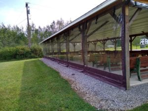Faith Baptist Clear Drop Shade Outdoor Enclosures