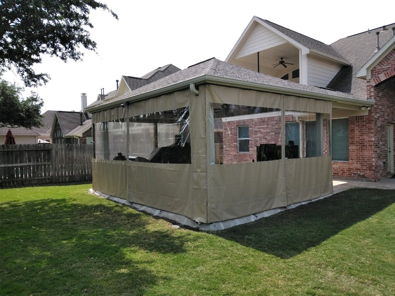 New Brunswick Business And Residential Clear Plastic Patio Enclosures