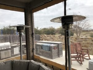 Residential Outdoor Patio Enclosure With Slide