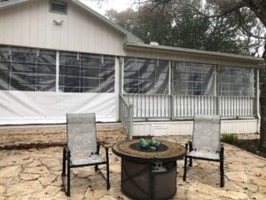 Residential Plastic Drop Shades W Retracted Corner