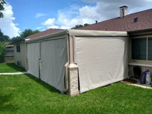 Residential Slide Mesh Patio Enclosure