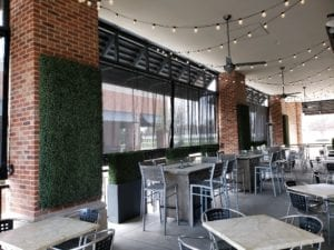 Restaurant Mesh Drop Shade With Pulley Kit
