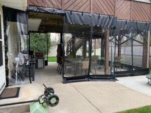 Outdoor Enclosure Drapes